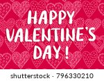 happy valentine's day greeting... | Shutterstock . vector #796330210