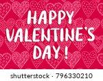 happy valentine's day greeting... | Shutterstock . vector #796330210