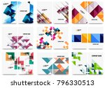 collection of business annual... | Shutterstock .eps vector #796330513