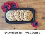 australian cookies anzac with... | Shutterstock . vector #796330858
