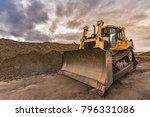 Excavator Making Earth...