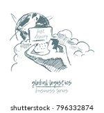 business concept  global... | Shutterstock .eps vector #796332874