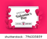 illustration of hearts of pink... | Shutterstock .eps vector #796335859