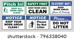 set of clean sticker sign for... | Shutterstock .eps vector #796338040
