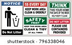 set of clean sticker sign for... | Shutterstock .eps vector #796338046