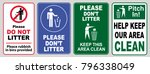 set of clean sticker sign for... | Shutterstock .eps vector #796338049