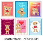 i love you and me teddy bears... | Shutterstock .eps vector #796341634