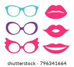 Glasses And Lips  Collection O...