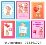i love you and me teddy bears... | Shutterstock .eps vector #796341724