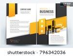 business brochure background... | Shutterstock .eps vector #796342036
