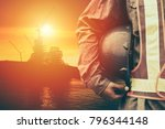 construction worker working on... | Shutterstock . vector #796344148