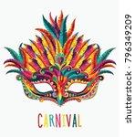 happy carnival festive concept... | Shutterstock .eps vector #796349209