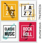 colorful music background. jazz ... | Shutterstock .eps vector #796350226