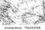 grainy black and white distress ... | Shutterstock .eps vector #796353598