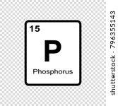 phosphorus chemical element.... | Shutterstock .eps vector #796355143