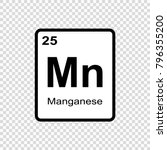 manganese chemical element.... | Shutterstock .eps vector #796355200