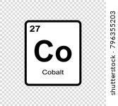 cobalt chemical element. sign... | Shutterstock .eps vector #796355203