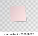 paper sticker with shadow on... | Shutterstock .eps vector #796358320