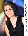closeup portrait of a beautiful ...   Shutterstock . vector #796358623