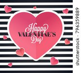 happy valentines day... | Shutterstock .eps vector #796359889