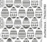 seamless pattern consisting of... | Shutterstock .eps vector #796361980