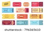 ticket and presentation party... | Shutterstock .eps vector #796365610