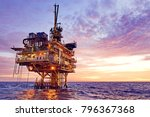petroleum production platform... | Shutterstock . vector #796367368