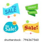 set flat linear colored... | Shutterstock .eps vector #796367560