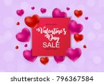 valentine's day heart  love and ... | Shutterstock .eps vector #796367584