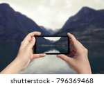picture of fjord in norway on... | Shutterstock . vector #796369468