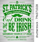 saint patrick's day  feast of... | Shutterstock .eps vector #796371028