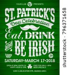 saint patrick's day  feast of... | Shutterstock .eps vector #796371658