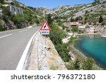 Small photo of Croatia - Adriatic Highway (Jadranska Magistrala) road along the coast.