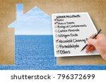 hand write a check list of... | Shutterstock . vector #796372699
