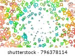 light multicolor  rainbow...   Shutterstock .eps vector #796378114
