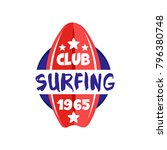 surfing club logo estd 1965 ... | Shutterstock .eps vector #796380748
