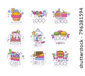 sweets logos set  confectionery ... | Shutterstock .eps vector #796381594