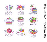 sweets  cakes  ice cream logos... | Shutterstock .eps vector #796381600