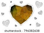 dark green  yellow vector... | Shutterstock .eps vector #796382638