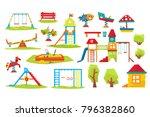 children playground vector... | Shutterstock .eps vector #796382860
