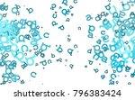 light blue vector pattern with...   Shutterstock .eps vector #796383424