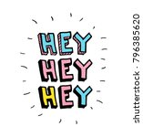 hey. vector cartoon sketch... | Shutterstock .eps vector #796385620