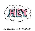 hey. vector cartoon sketch... | Shutterstock .eps vector #796385623