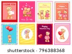 i love you and me teddy bears... | Shutterstock .eps vector #796388368