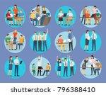 office employees in formal... | Shutterstock .eps vector #796388410