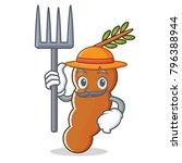 farmer tamarind character... | Shutterstock .eps vector #796388944