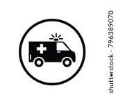 ambulance vector icon | Shutterstock .eps vector #796389070