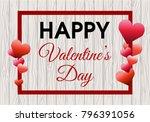 valentines day vector... | Shutterstock .eps vector #796391056