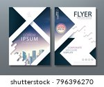 annual report brochure flyer... | Shutterstock .eps vector #796396270