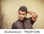 handsome and attractive young... | Shutterstock . vector #796397248